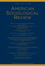 American Sociological Review | SAGE Publications Inc