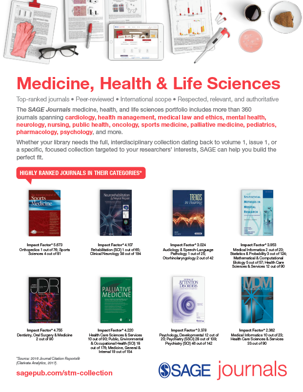 Medicine, Health & Life Sciences Collections Flyer 2018