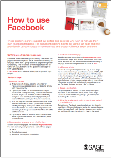 Cover of How to Use Facebook Booklet