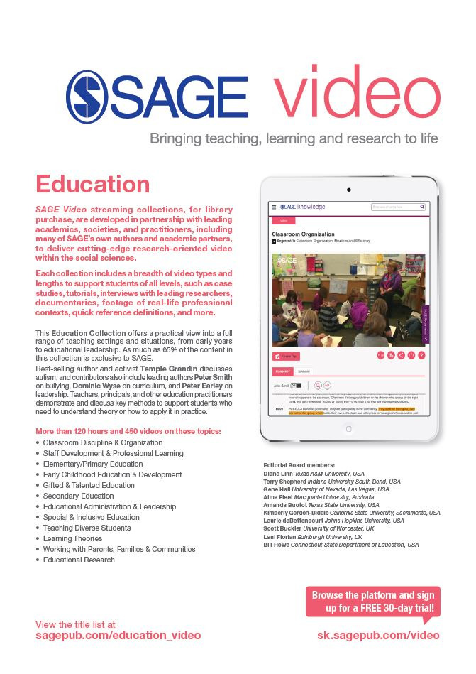 Image of SAGE Video Education Flyer