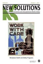 NEW SOLUTIONS: A Journal of Environmental and Occupational Health Policy