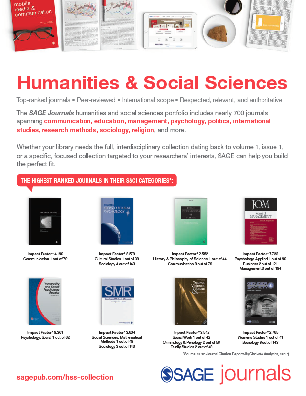 Humanities and Social Sciences Collections Flyer 2018
