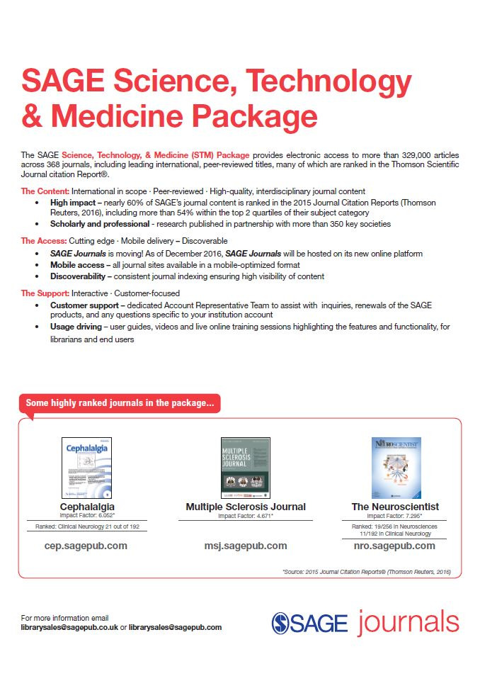 Image of the 2017 SAGE Science, Technology and Medicine Flyer