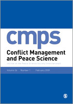 Conflict Management and Peace Science