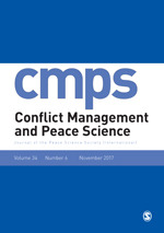 Conflict Management and Peace Science cover image