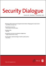 Security Dialogue journal cover image