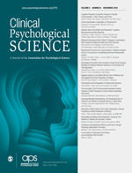 cover- Clinical Psychological Science