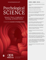 cover-Psychological Science