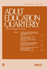 adult education quarterly sage publications inc adult education quarterly